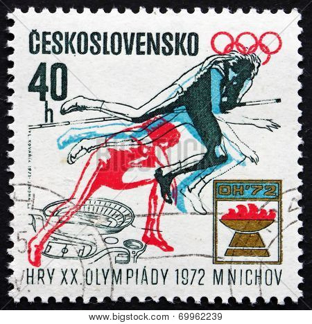 Postage Stamp Czechoslovakia 1971 Women's High Jump