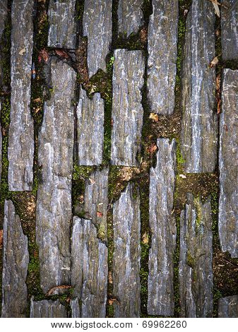 Stone Pavers Background In Nature