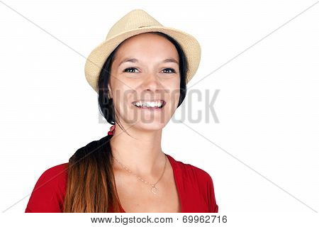 Woman With Hat Laughing