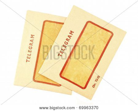 Two Old Telegram Envelopes