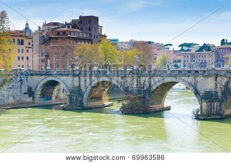 The Bridge of Hadrian, Rome.