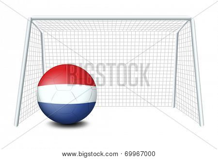 Illustration of a ball with the flag of Netherlands on a white background