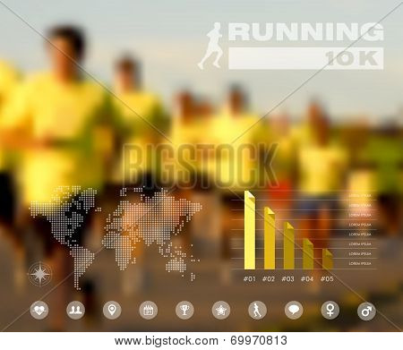 Running People Blurred Infographic