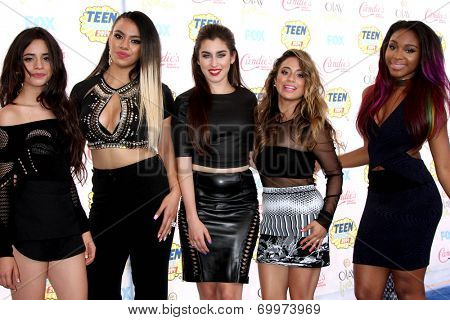 LOS ANGELES - AUG 10:  Fifth Harmony at the 2014 Teen Choice Awards Press Room at Shrine Auditorium on August 10, 2014 in Los Angeles, CA