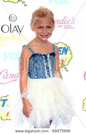 LOS ANGELES - AUG 10:  Alyvia Alyn Lind at the 2014 Teen Choice Awards Press Room at Shrine Auditorium on August 10, 2014 in Los Angeles, CA
