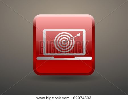 3d glossiness button SEO icon