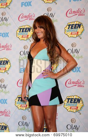 LOS ANGELES - AUG 10:  Lea Michele at the 2014 Teen Choice Awards Press Room at Shrine Auditorium on August 10, 2014 in Los Angeles, CA