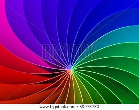 3D Rainbow Spectrum Background