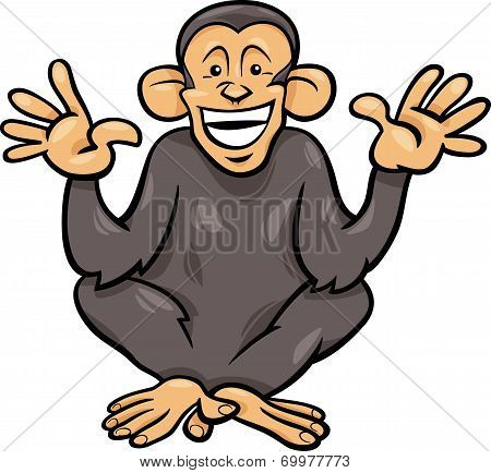 Chimpanzee Ape Animal Cartoon Illustration