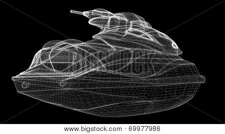 Jetski  isolated  view