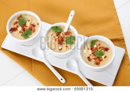 Chilled Corn And Bacon Soup