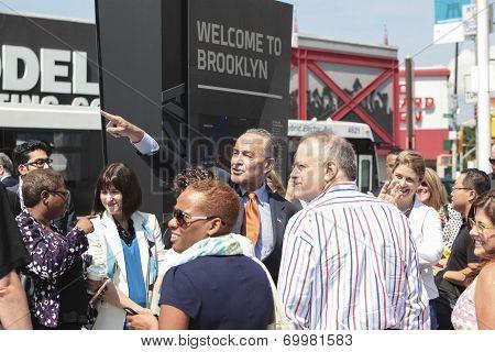 Senator Schumer points to Barclays Center