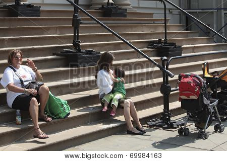 Breastfeeding on City Hall steps