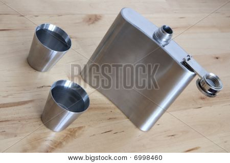 Steel Flask With Spirit