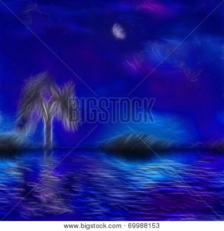 Painterly night scape