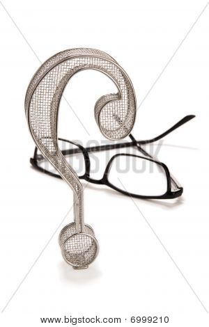 Question Mark With Eyeglasses