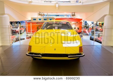 Modena, Italy - July 09: Yellow Sport Car Ferrari At Exhibition Of Ferrari Cars On July 09, 2008 In