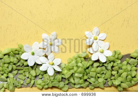 Handicraft Flowers On A Card