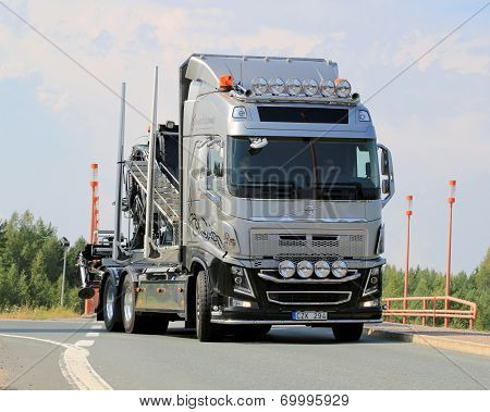 Volvo Show Truck On The Road