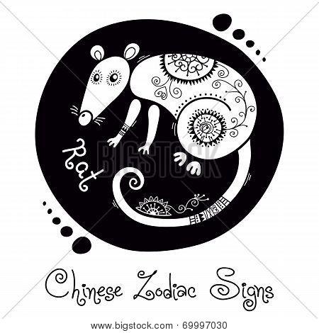 Rat. Chinese Zodiac Sign
