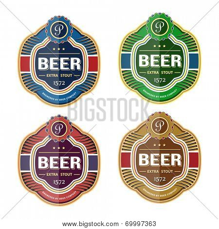 Bottle label logo template. Vector illustration