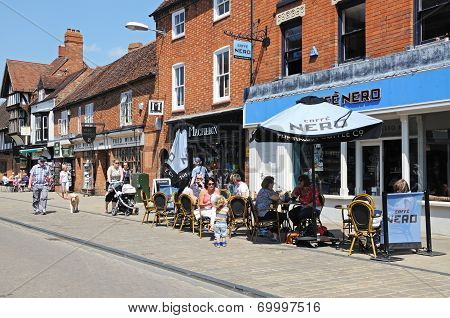 Pavement cafe, Stratford-upon-Avon.
