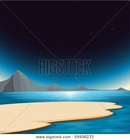 Illustration of a beautiful scenery