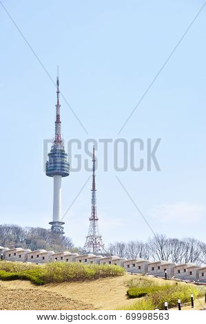View Of Namsan And N Tower In Seoul, Korea