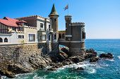 pic of yellow castle  - Wulff Castle in Vina del Mar Chile - JPG