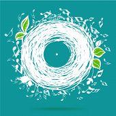 foto of musical symbol  - Music of nature - JPG