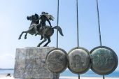 picture of great horse  - Alexander the Great Spears of his soldiers Thessaloniki Greece - JPG