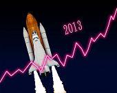 foto of happy new year 2013  - 2013 new year chart calendar celebration - JPG