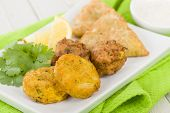 picture of samosa  - South Asian Starter Selection  - JPG