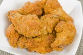 pic of southern fried chicken  - Fried Hot Chicken Wings  - JPG