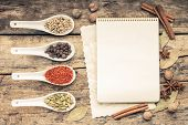 picture of recipe card  - Menu background - JPG