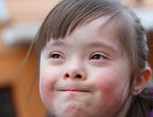 foto of playtime  - Portrait of beautiful young happy girl  - JPG