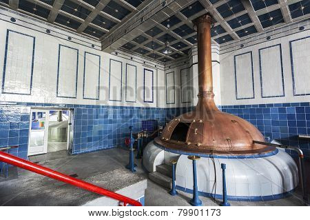 Beer Brewery. Traditional Way Of Making A Beer.
