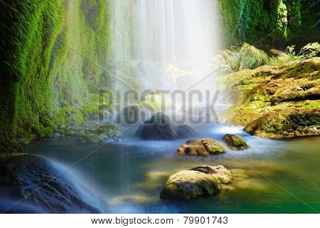 Kursunlu Waterfalls in Antalya, Turkey