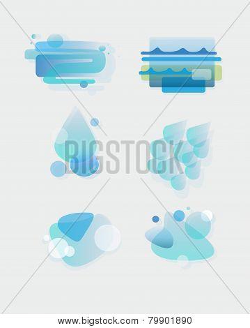 Water vector elements