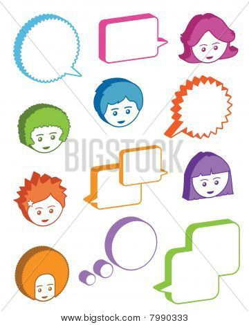 kids with speech bubbles