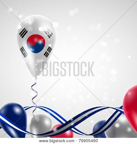 Flag of the Republic of Korea on balloon