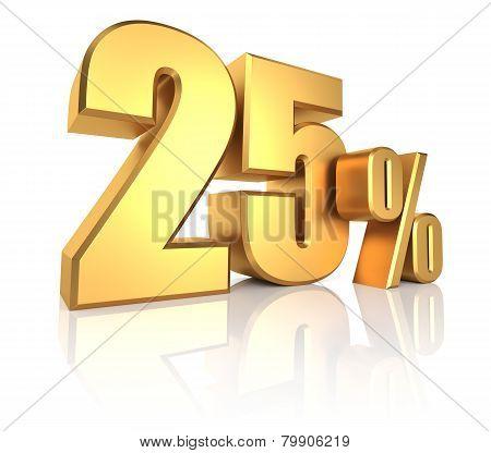 Gold 25 Percent