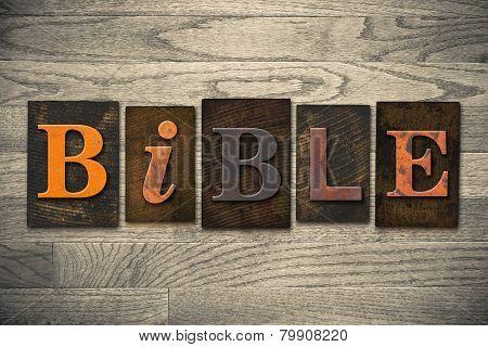 Bible Concept Wooden Letterpress Type