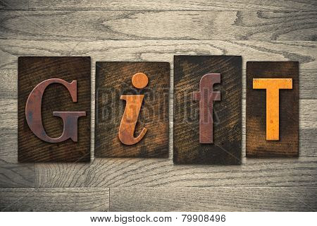 Gift Concept Wooden Letterpress Type