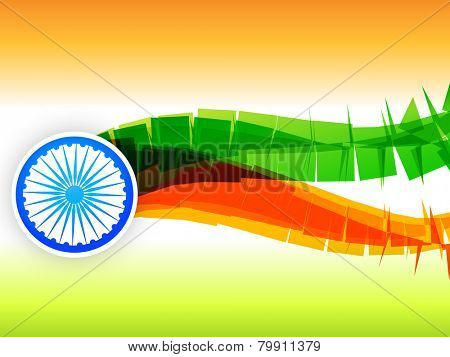 vector creative flag design made in wave style in tricolor