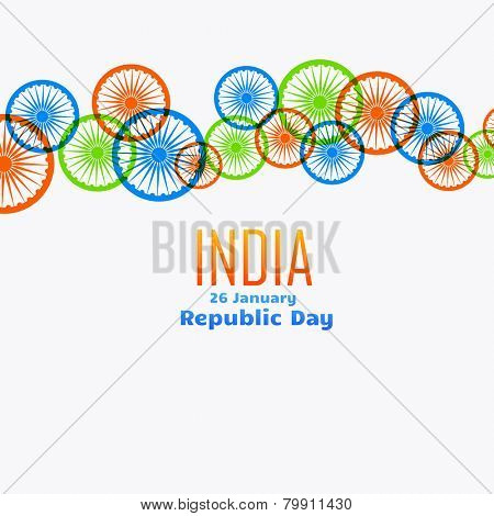 vector Indian flag wheel creative background design