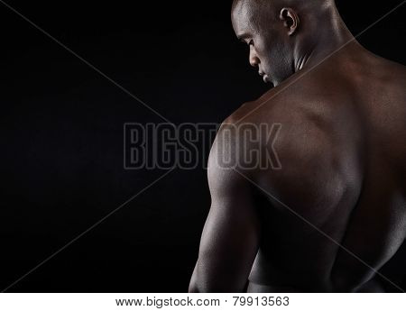 Shirtless Male Model With Copyspace