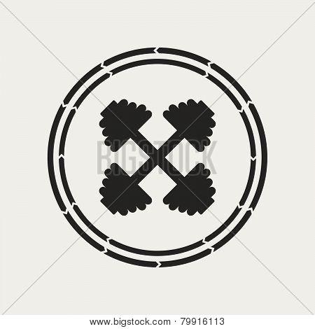Dumbbell Emblem