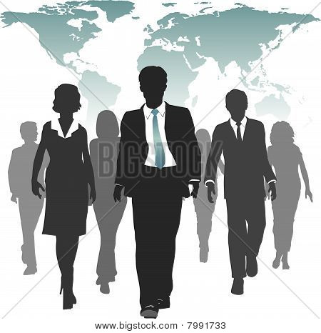 World Work Force Business People Human Resources.eps