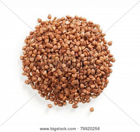 Top view of buckwheat pile